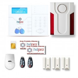 Kit HDPRO GSM Doppia Frequenza Sirena Wireless