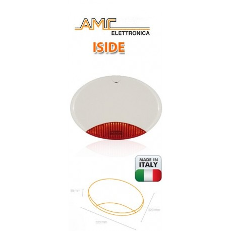 Sirena AMC con lampeggiante - via filo