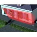 Esempio di posizionamento a barriera di lato al perimetro esterno della abitazione.
