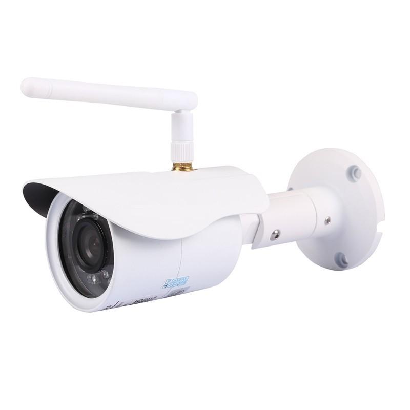 Telecamera ip cam hd 720p 1 mega pixel senza fili da for Telecamere da esterno casa