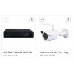 KIT NVR DA ESTERNO HD 720P WIRELESS IP CAMERA VIDEOSORVEGLIANZA