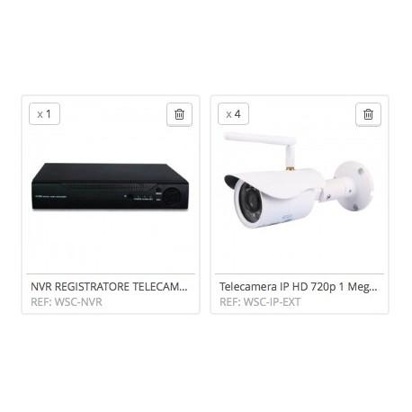 KIT NVR ONVIF HD 720P WIRELESS IP CAMERA VIDEOSORVEGLIANZA TELECAMERE