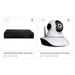 KIT NVR ONVIF HD 720P WIRELESS IP CAMERA VIDEOSORVEGLIANZA TELECAMERE