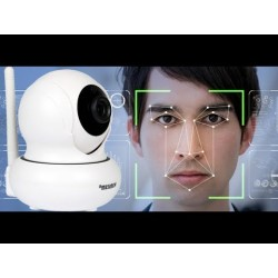 Telecamera Auto Tracking e Face Recognition ip cam HD 1080p senza fili da interno SD-CAM 1 MEGAPIXEL tf card