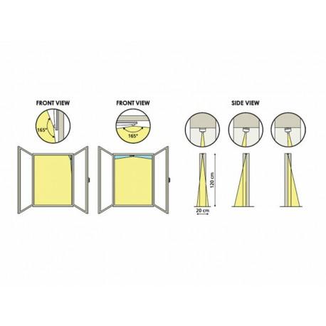 Sensore movimento-volumetrico PIR a tenda